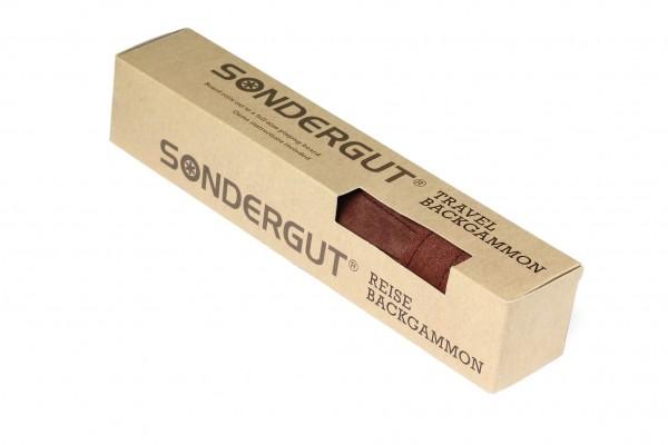 SONDERGUT - Reise Backgammon Farbe mocca