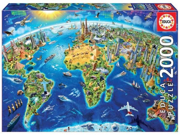 Wahrzeichen Welt (2000 Teile Puzzle)