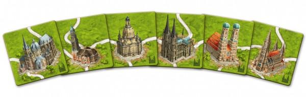 Carcassonne: - Kathedralen in Deutschland - Mini-Erweiterung (neue Edition) DE/EN