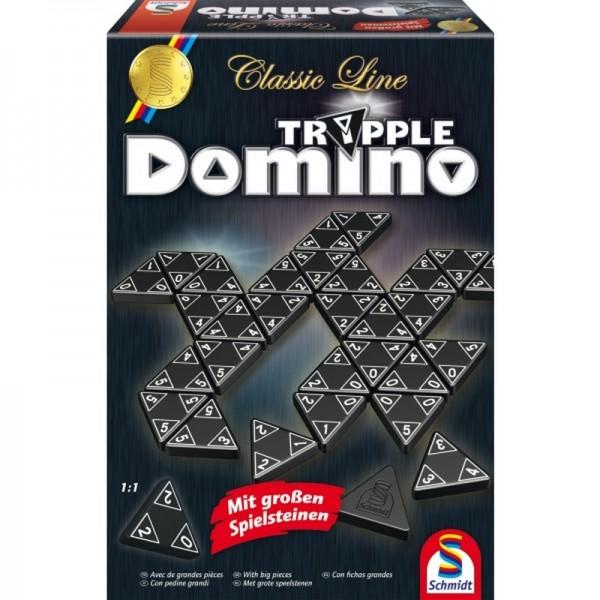 Tripple-Domino - Classic Line mit großen Spielsteinen