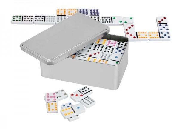 Domino, Doppel 12, Metallbox