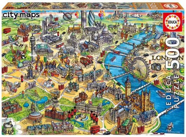 London City Maps Puzzle (500 Teile)