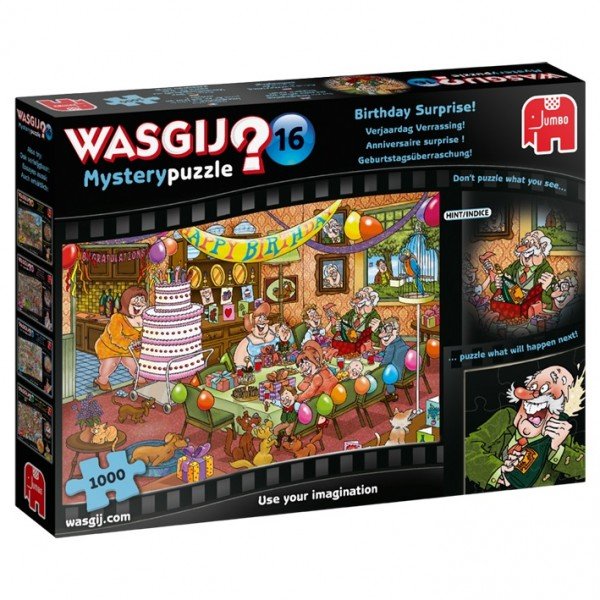 Wasgij Mystery 16: Geburtstagsüberraschung Puzzle (1000 Teile)