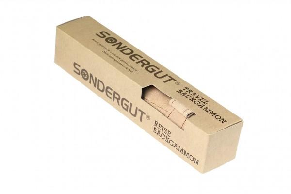 SONDERGUT - Reise Backgammon Farbe cream