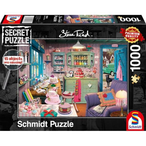 Puzzle: Großmutters Stube - Secret Puzzle (1000 Teile)