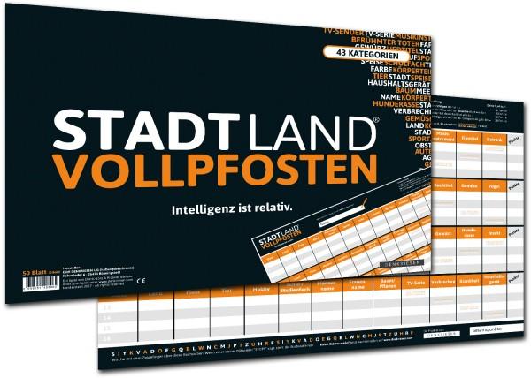 STADT LAND VOLLPFOSTEN – CLASSIC EDITON Intelligenz ist relativ (DIN A3 Format)