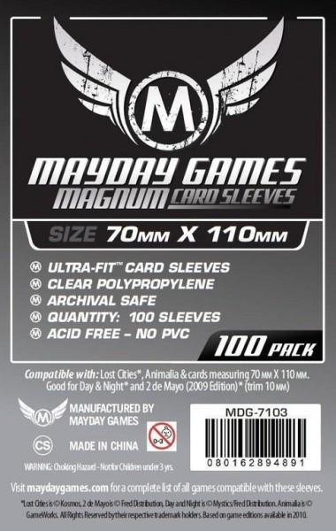 Kartenspiel-Hülle / Sleeves, Magnum Silver 70x110mm (100 Stück)