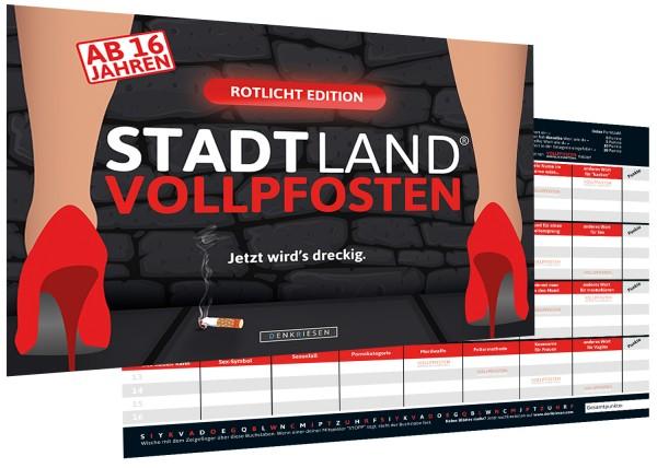 STADT LAND VOLLPFOSTEN – ROTLICHT EDITION (Din A4-Format)