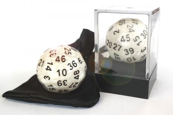 D50 in Acrylbox + Satinbag - Perlmutt