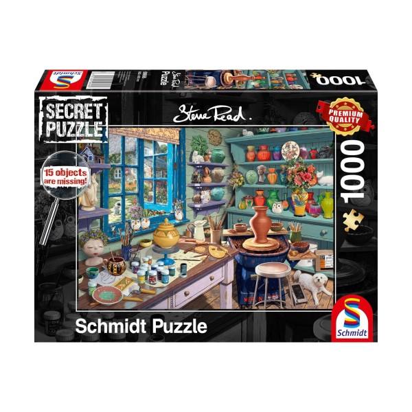 Puzzle: Künstler-Atelier - Secret Puzzle (1000 Teile)